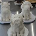 Gâteaux sculptés avant  coloration à l'aérographe