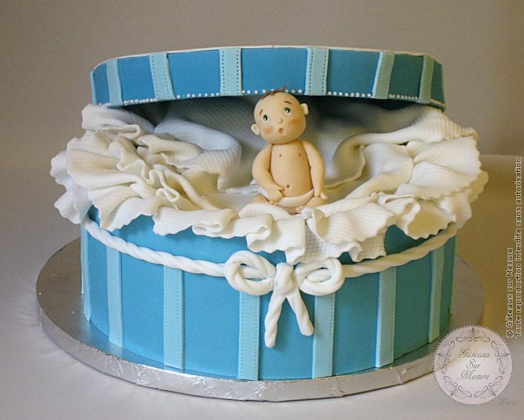 Atelier Cake Design Nancy : Gateau bebe dans la bo?te Gateaux sur Mesure Paris ...