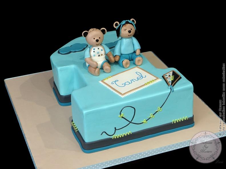 Premier anniversaire oscar et lazare gateaux sur mesure paris formations cake design - Lazare et oscar ...