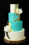 Mint and Ivory Wedding Cake