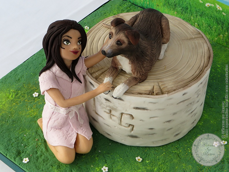 Cake Design - Collaboration internationale sur le thème :  Best Friends  - Gâteaux sur Mesure Paris - cake design, chien, chocolat, ecole cake design, formation, France, gateau personnalisé, modelage, Paris