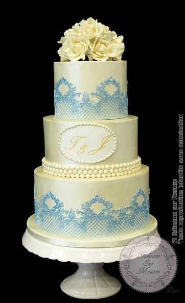 Wedding Cake Design School : Piece montee ivoire nacree Gateaux sur Mesure Paris ...