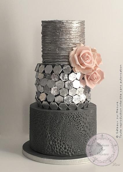 Silver Wedding Cake Gateaux Sur Mesure Paris Formations Cake